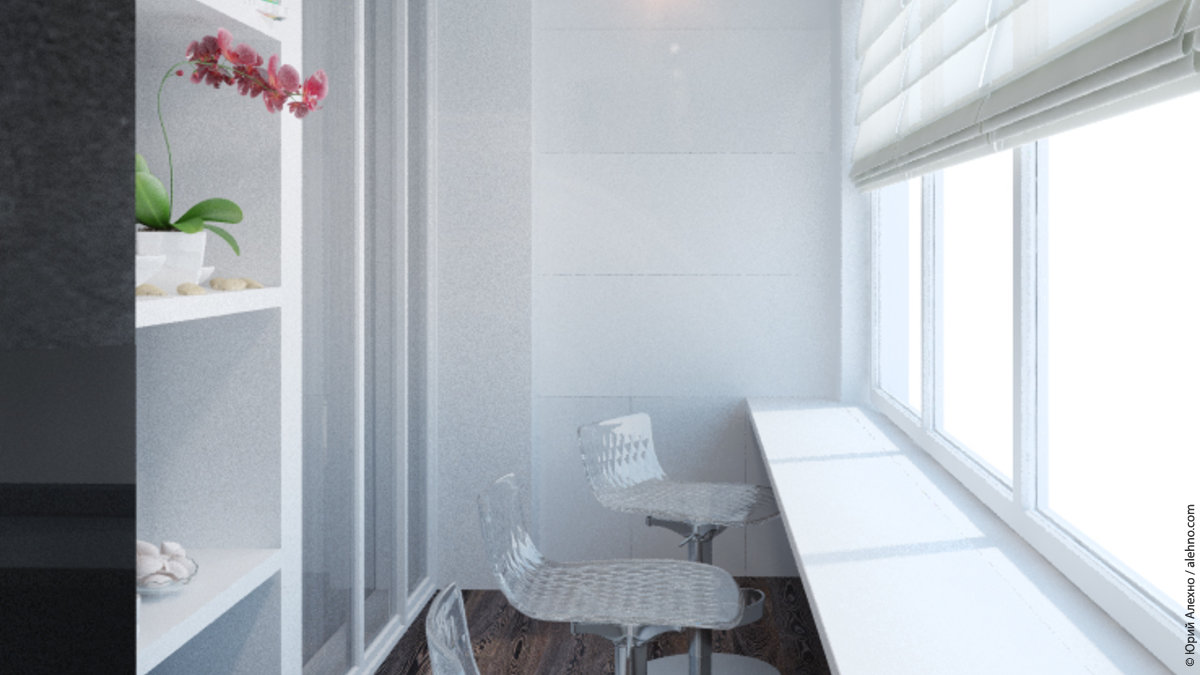 Дизайн для небольшого балкона фото.